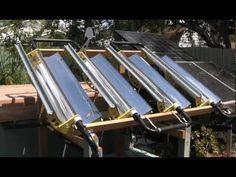 Tracking Parabolic Concentrator Solar Hot Tub Heater - YouTube