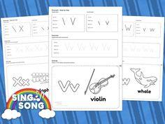 V W X Alphabet Worksheet