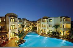 The Creta Palm Resort Hotel Creta Greece, Hotel Apartment, Apartments, Palm Resort, Crete Island, Outdoor Pool, Outdoor Decor, At The Hotel, Front Desk