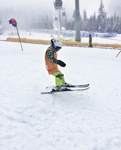Little Kids Skiing in Whistler