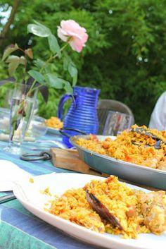 Paella Catalane With Mussels, Squid & Crevettes recipe
