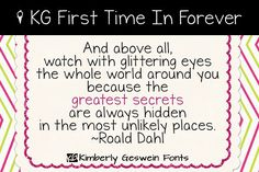 KG First Time In Forever Font by kimberlygeswein on @creativemarket