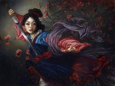 Mulan por Heather Theurer   (pintura a óleo)