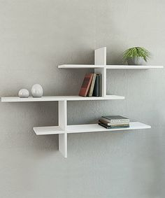 Another great find on #zulily! White Leo Wall Shelf #zulilyfinds $40.
