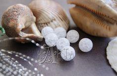Matt frosty quartz smooth ball 10mm от CreativeRoomKartA на Etsy