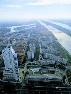 From DC Tower 1, 57 floor Paris Skyline, Tower, Floor, Travel, Rook, Lathe, Boden, Viajes, Traveling