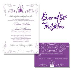 Disney wedding invitation Disney Wedding Invitation Ideas