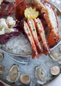 Tellers Seafood Tower: Oysters, Clams, Shrimp, Tuna, Jumbo Lump Crab, Tuna