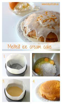 Melted Ice Cream Cake Recipe - 3 ingredient recipes