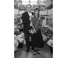 Gianni and Consuelo Castiglioni at the Marni Flower Market