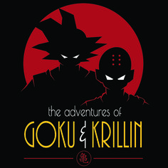ADVENTURES OF GOKU & KRILLIN T-Shirt $10 Dragon Ball Z tee at ShirtPunch today only!