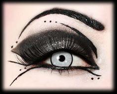 'Very gothic style. #halloween #makeup ' #blackeyemakeup #gothiceyemakeup