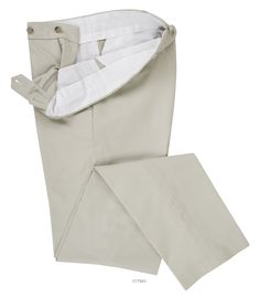 Luxire dress pant constructed in Stone Twill Chino: http://custom.luxire.com/products/stone-twill-chino  Consists of standard extended closure, front slant pockets and 2 rear pockets.