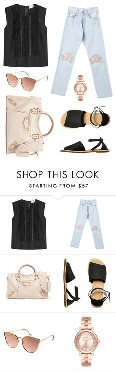 """Daily Look"" by trsca on Polyvore featuring RED Valentino, Bliss and Mischief, Balenciaga, Vans, Quay and Michael Kors"