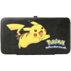 Pokemon Pikachu Hinge Wallet | Hot Topic ($18) ❤ liked on Polyvore featuring bags, wallets, wallet, clear wallet, crystal clear bags, hinge wallet, credit card holder wallet and clear bags