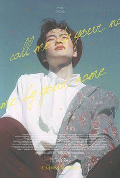call me by my name poster redesign 그래픽 디자인 UI/UX 그래픽 디 Graphic Design Posters, Graphic Design Inspiration, Kpop Posters, Girls Album, Poster Layout, Poster Ideas, Branding, Grafik Design, Magazine Design