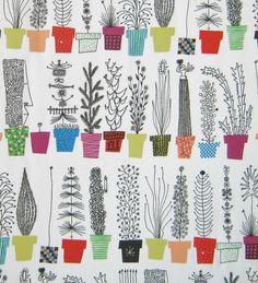Image of Scandinavian Fabric - Plant Pots---macetas de tela---