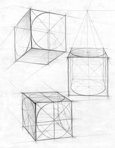 академический рисунок геометрическая фигура - Поиск в Google