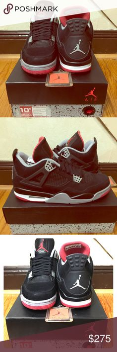 Air Jordan 4 Retro UK 9.5  Size 10.5  EUR 44.5 condition 9 out of 10  Ps small scratch look at pic #4 for more info  Any question just ask Im here to help no lowballing price firm unless bundle   My business here only  Interested just click buy Jordan Shoes Sneakers