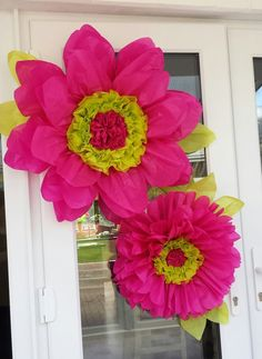 The 42 best hand made tissue paper flowers uk images on pinterest 2 xtra large hot pink tissue paper by gisellesbloom mightylinksfo