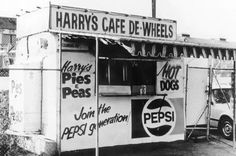 Harry's Cafe De Wheels in the 1970s.Opened in 1938 down at Woolloomoolloo at the gates of the Naval Dockyards.Photo from State Library of NSW.A♥W