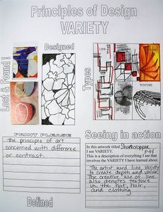 Great Project for older students Principles of Design Posters Pleasant Grove High School