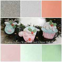 Merino Wool Felt Sheet Pack for Molly and Mama 'Festive Felties' Pattern from $15 delivered