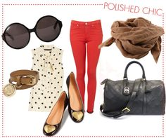 polished chic.  love the red skinnies!