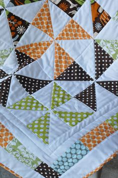 Baby Quilt for a Boy by Pleasant Home, via Flickr