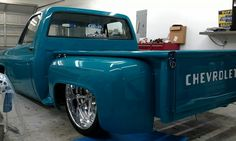 Tubbed Chevy step side pickup...Reminds me of Todd Mattson's old chevy