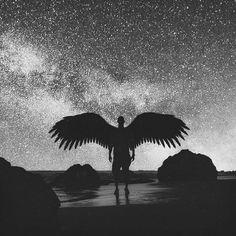Tiago Amaral Letras : Wings of Utopia Dark Fantasy Art, Dark Art, Male Angels, Angels And Demons, Ange Demon, Demon Art, Angel Artwork, Angel Warrior, Angel Aesthetic