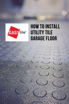 In this video, you will learn how to install a #recycledrubber garage floor tile called EASY|tile Utility Tile. Easy to install. Easy to finish. Easy to maintain. Combine two different color tiles for a checkerboard effect! Check out this video for details! #garagelife #garagetile #garagefloor Garage Floor Tiles, Tile Floor, Easy Tile, Interlocking Flooring, Used Tires, Recycled Rubber, Color Tile, Recycling, Learning