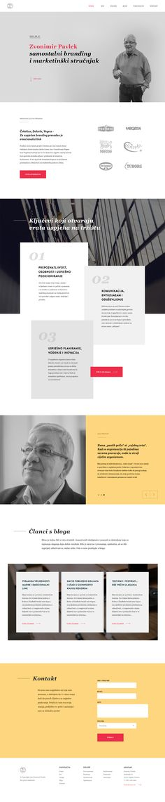 Presentational website for Zvonimir Pavlek by, marketing expert and icon of product branding. The objective was to present his methodology, way of work and greatest accomplishments in past 40 years. The visual idea behind this site was to combine his very strong personality together with clean and modern layout just using big quotes, personal images and subtle transitions. Design by @degordian #webdesign #website #web #layout #minimalistic #simple #clean