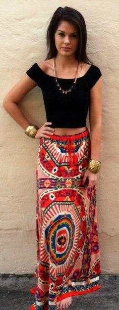 The Pagoda Color Spill Skirt