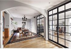 Gemma Ward Sends NYC Apartment Down the Catwalk New York City Apartment, Manhattan Apartment, Mad About The House, Gemma Ward, Home Living, Living Rooms, Living Area, Living Spaces, Arched Windows