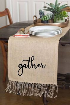 Farmhouse Table Runner, Country Rustic Table Runner, Wedding Gift For Couple, Burlap Wedding Table Runner, Wedding Runner, Newlywed Gift. #affiliate