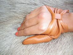 Women's Fashion vingerloze lederen handschoenen