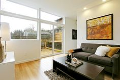Green Built Seattle Townhouse - contemporary - family room - seattle - Seattle Staged To Sell