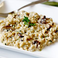 Mushroom Risotto | Easy to follow this recipe & is SO yummy!