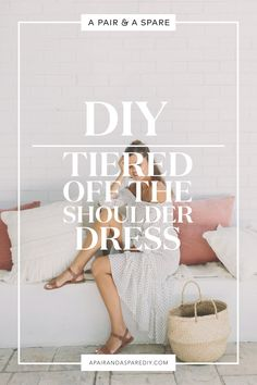 diy-tiered-off-the-shoulder-dress Sewing Hacks, Sewing Tutorials, Sewing Projects, Sewing Crafts, Fashion Tips, Fashion Trends, Diy Fashion, Sewing Clothes, Diy Clothes Patterns
