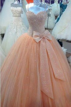 New Sequined Quinceanera Dresses Formal Prom Pageant Ball Bridal Wedding Gown #Unbranded #BallGown #Formal