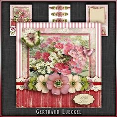 Vintage Flowers Card Kit 1048 on Craftsuprint - View Now!