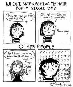 Sarah C. Andersen ☆ Funny Cute, Funny Jokes, Hilarious, Funny Stuff, Sarah Anderson Comics, Sara Anderson, Cute Comics, Funny Comics, Funny Memes