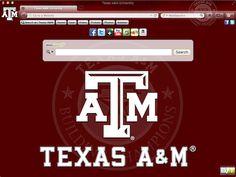Texas A&M Official School Browser Theme - Google Chrome, Mozilla Firefox, Internet Explorer and Safari Browsers. Texas A&M Aggies Theme