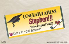 Graduation party favors - personalized candy bar wrappers from www.customfavors.com. #graduation #grad #personalizedbars #chocolate #favors