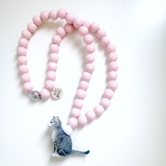 Emile et Ida Pink Cat Necklace