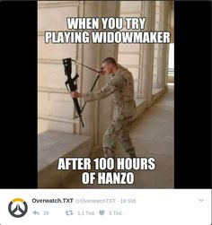 Funny Quotes QUOTATION – Image : Quotes Of the day – Description Overwatch Memes Sharing is Caring – Don't forget to share this quote ! Overwatch Comic, Overwatch Memes, Overwatch Hanzo, E Sports, Geeks, Photo Games, Video Game Memes, Widowmaker, Nerd