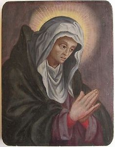 Century - German School - Prayerful Madonna, Oil on Panel Old Master, 18th Century, Madonna, Worlds Largest, German, Paintings, Oil, School, Ebay