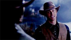 SPNG Tags: Dean / Cowboy /on a steel Impala he rides / Looking for a particular Supernatural reaction gif? This blog organizes them so you don't have to spend hours hunting them down.
