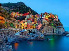 Manarola-small town in the Cinque Terre. | See More Pictures